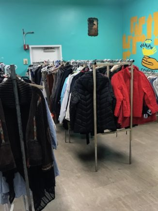 Clothing racks at Covendales